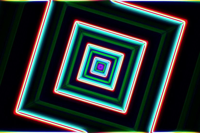 Neon lights geometric tunnel background loop - 1080p Motion Background -  VideoBlocks