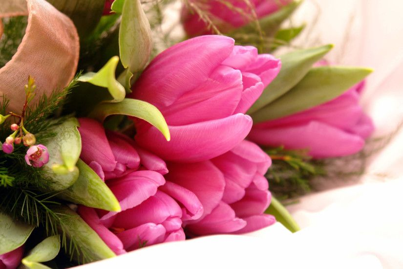 Fancy pink flowers bouquet. Download wallpaper