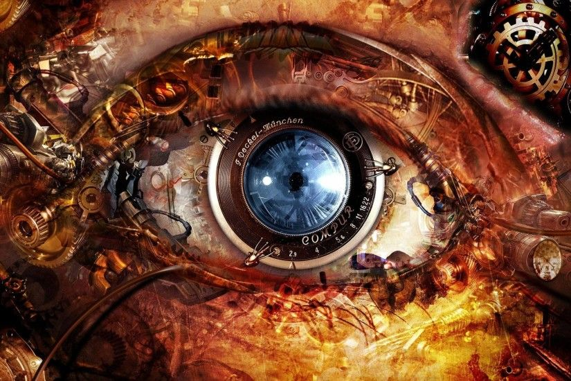 Steampunk Abstract Eyes HD Wallpapers - High Definition Wallpapers