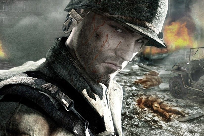 Preview wallpaper call of duty, soldier, face, look, blood 2560x1440