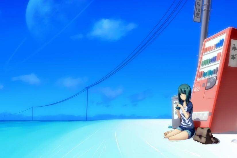 1920x1080 Wallpaper sun, beach, girl, automatic, soft, drinks, sky,