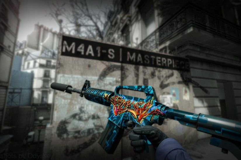 Counter Strike Source m4a1 Masterpiece