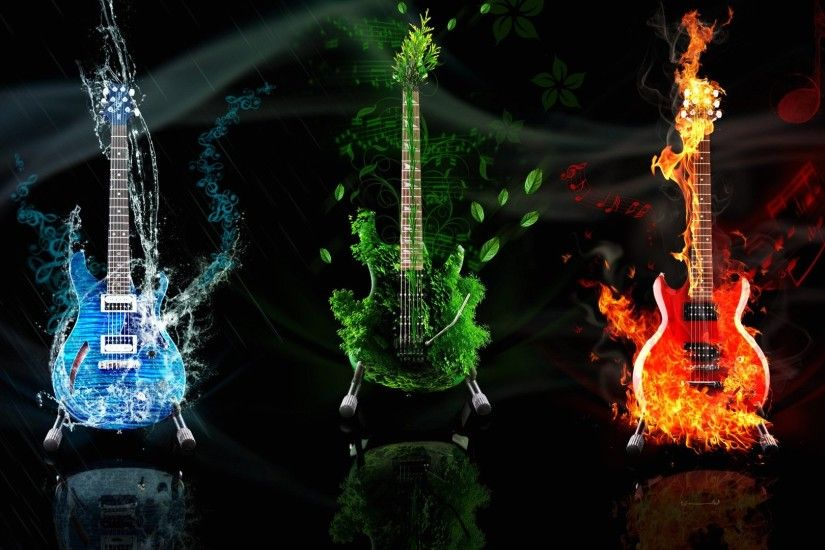 Wallpaper guitars music abstract 1920 x 1080 full hd