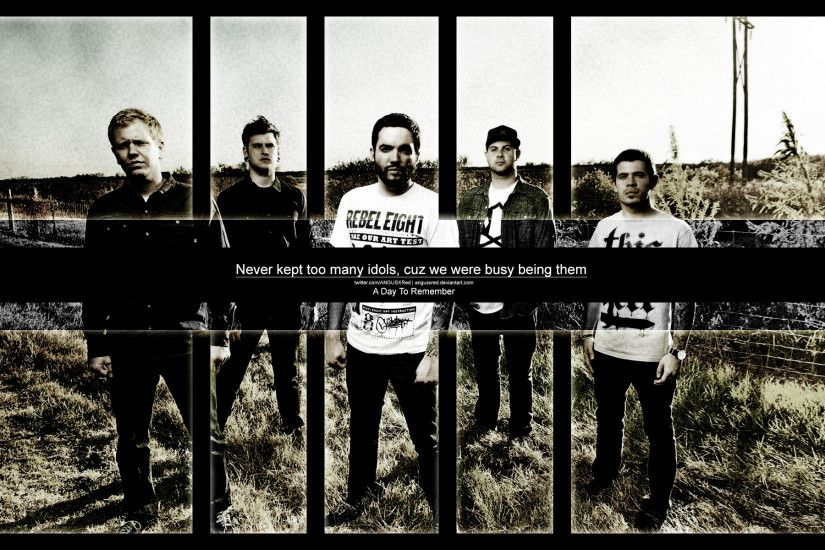 A Day to Remember ♥ images ADTR - I Remember - Wallpaper By ANGUSXRed HD  wallpaper and background photos