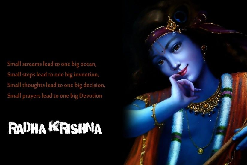 Krishna-Wallpapers-With-Quotes Beautiful HD Wallpapers Images Happy Krishna  janmashtami Day Pics