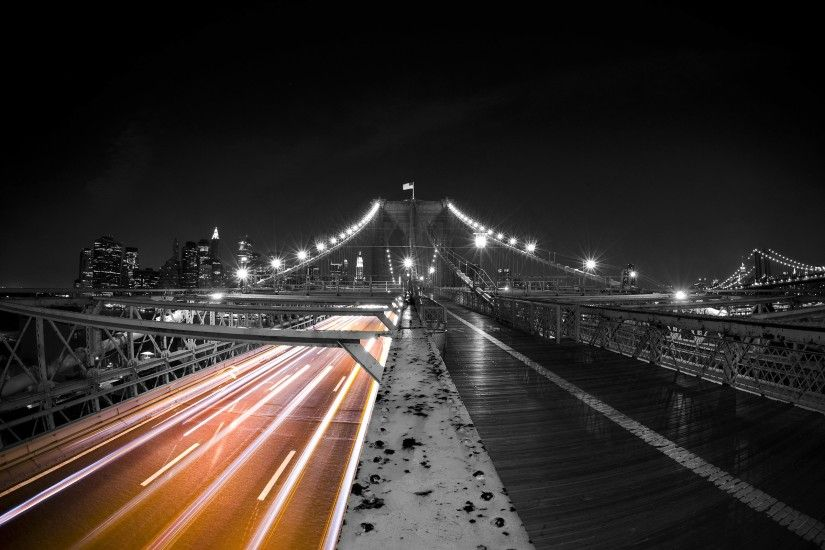 black and white color splash wallpaper | Wallpapers Body Building Black And  White Bridge Colorsplash Wallchan