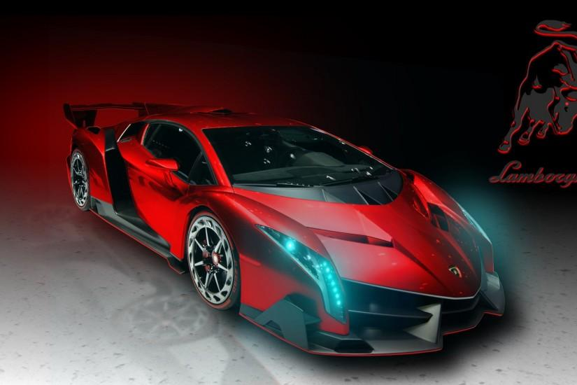 Lamborghini Veneno Red Art Exclusive HD Wallpapers #4116
