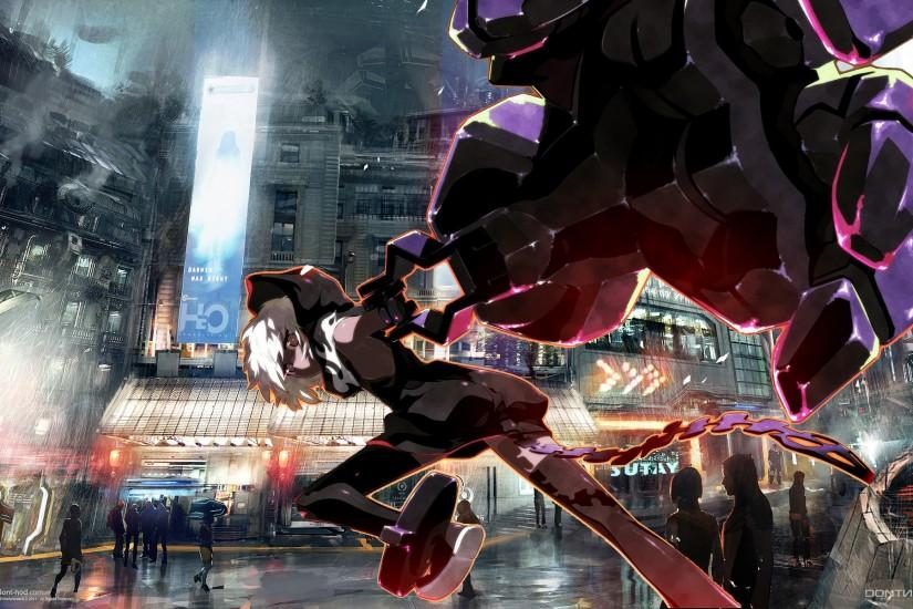 Anime - Black Rock Shooter City Anime Strength (Black Rock Shooter)  Wallpaper