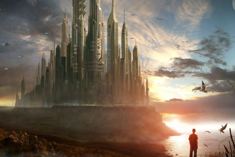 Free Fantasy Future City, computer desktop wallpapers, pictures, images