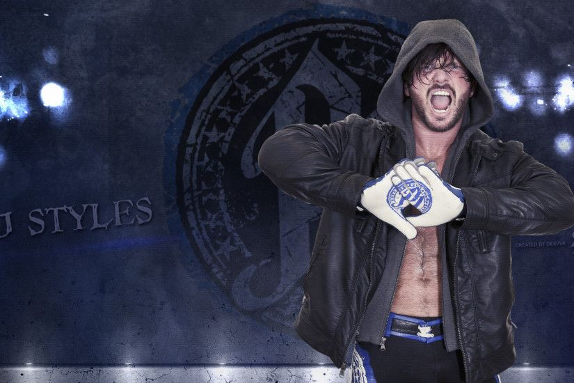 ... Aj Styles HD Wallpaper WWE 2016 by DEEVVK