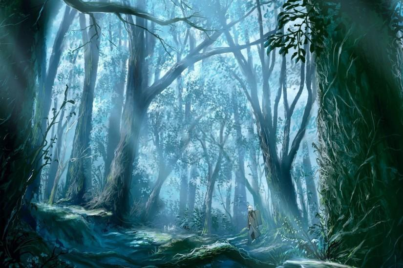 Walk through the woods wallpaper - Fantasy wallpapers - #