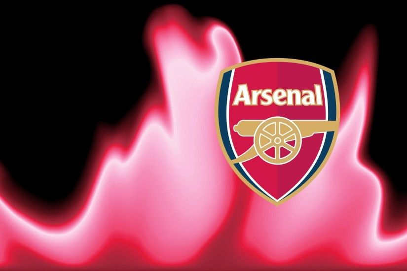 Wallpaper with Arsenal logo and red fire