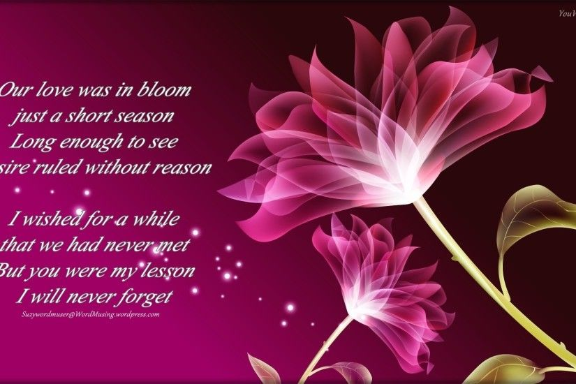 purple flowers poem Wide Wallpaper