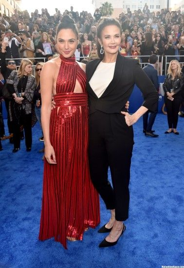 Gal Gadot and Lynda Carter at the premiere of 'Wonder Woman' in Los Angeles  | MyConfinedSpace