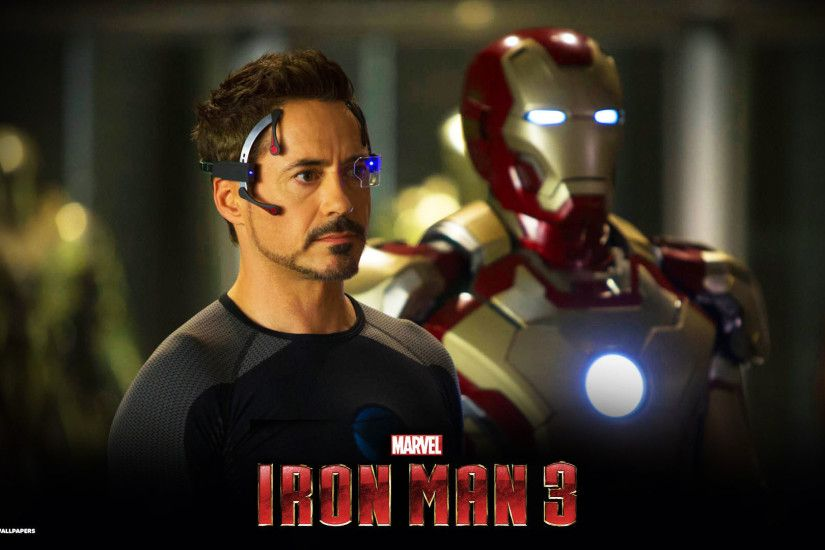 iron man 3 downey wallpaper 2013
