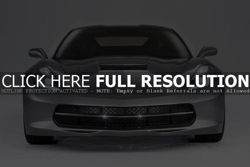 GREY CHEVROLET CORVETTE STINGRAY WALLPAPER