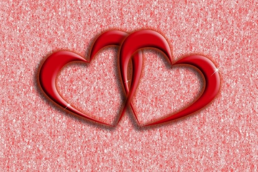 heart, pair, red