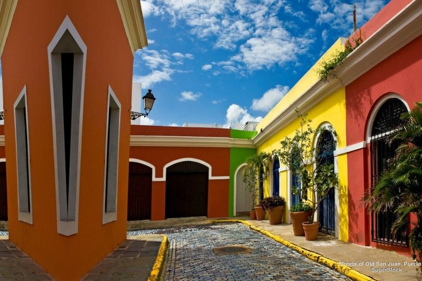 Old San Juan Colorful Puerto Rico Hispanic Desktop Backgrounds