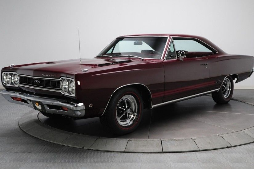 2560x1600 Wallpaper 1968 plymouth gtx, plymouth, hemi, burgundy