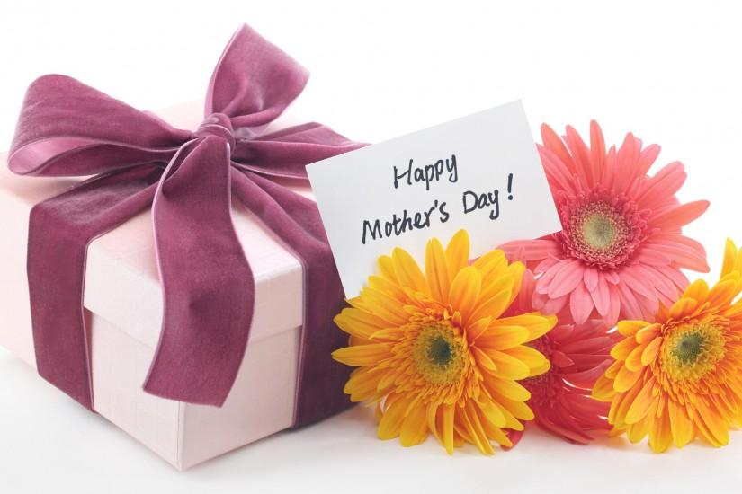 Mothers Day Flowers Gift Background