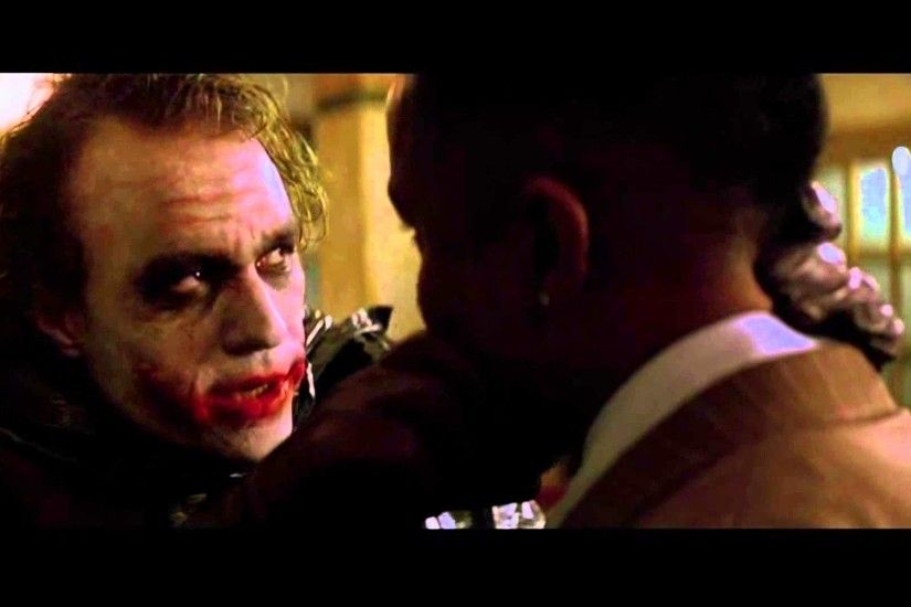 "Batman:The Dark Knight (2008) Escena FANDUB en Ingles ""Â¿Why So Serious?""  (HD)"