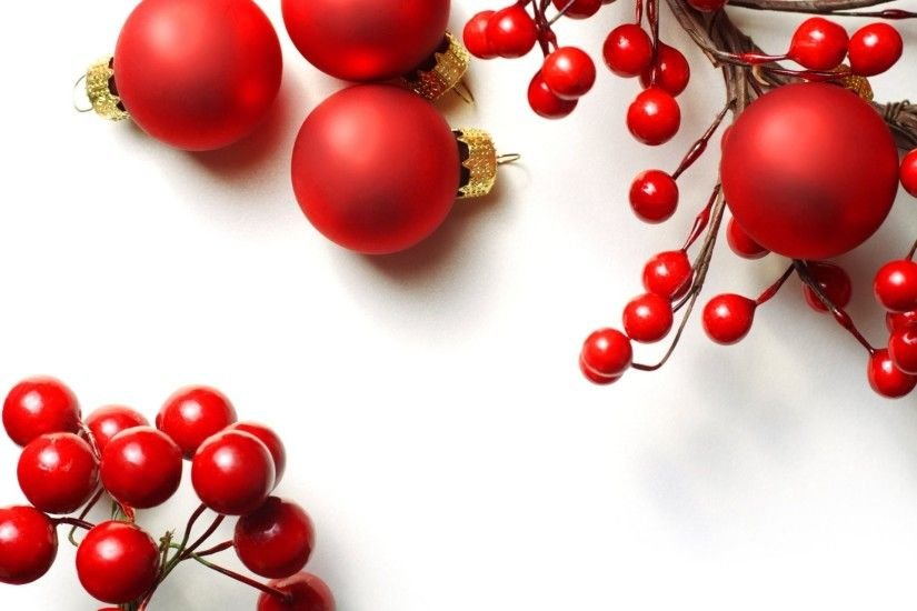 balls red bulbs christmas toys branch berries holly christmas new year new  year christmas