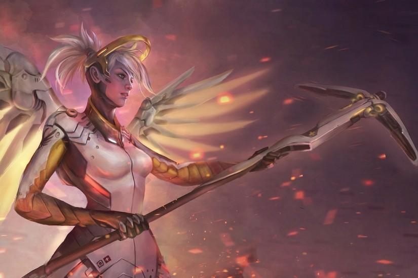 widescreen mercy overwatch wallpaper 1920x1271