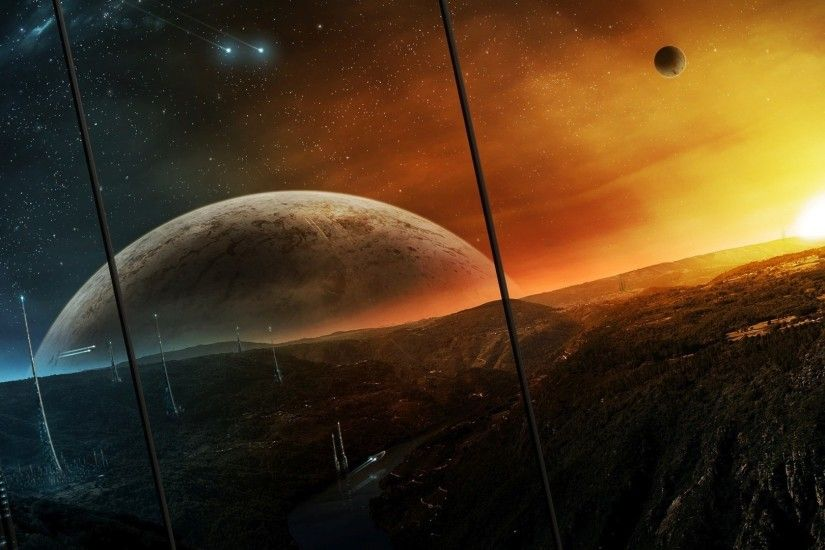 View on the alien planet wallpaper - 1282444