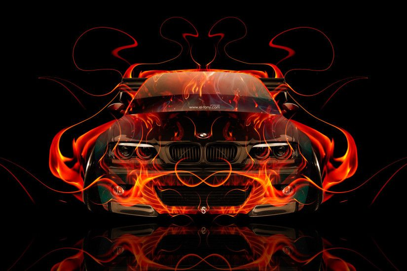 BMW-M3-E46-Tuning-Front-Fire-Abstract-Car-