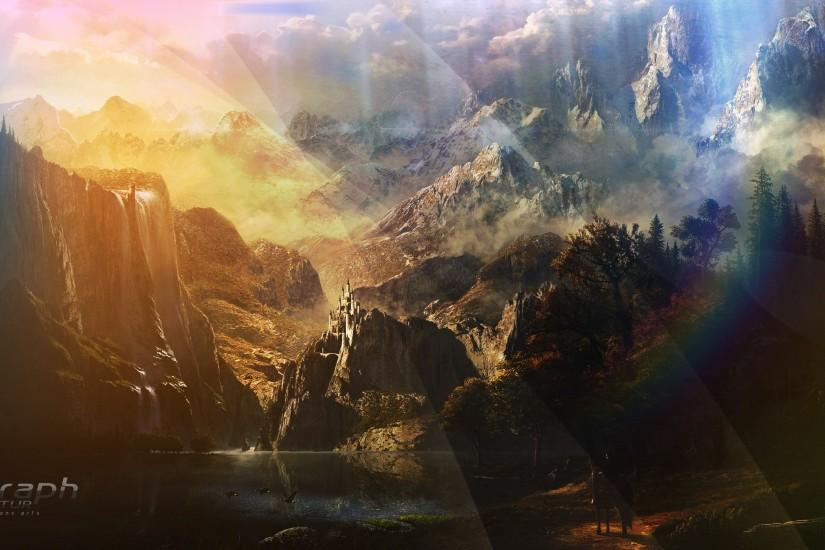 fantasy landscape wallpaper 2560x1440 for iphone 6