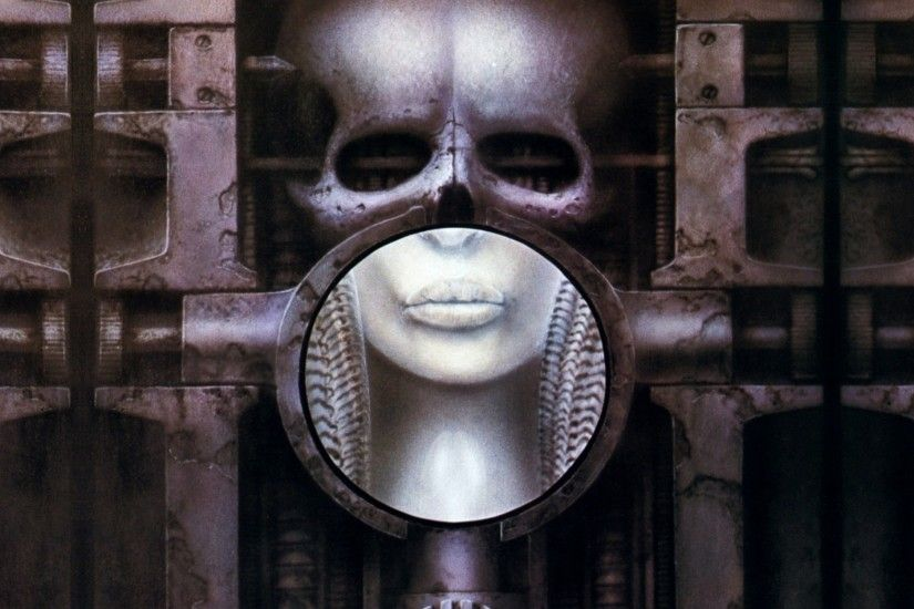 hr giger brain 1920x1200 wallpaper Art HD Wallpaper