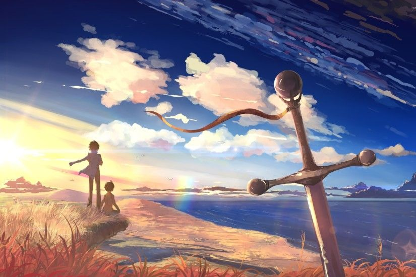 ... beautiful sunset in 5 centimeters per second wallpaper anime ...