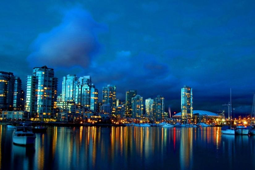 Vancouver At Night 2560x1600 Wallpaper.