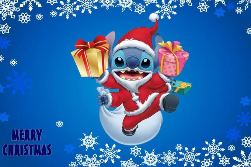 Lilo and stitch christmas wallpapers HD.
