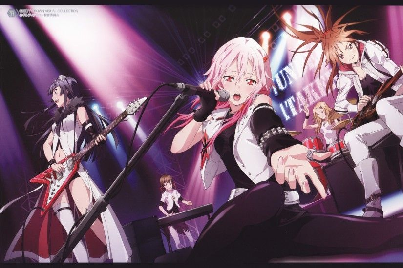 (left to right) Tsumugi, Hare, Inori, Arisa, Ayase Guilty Crown
