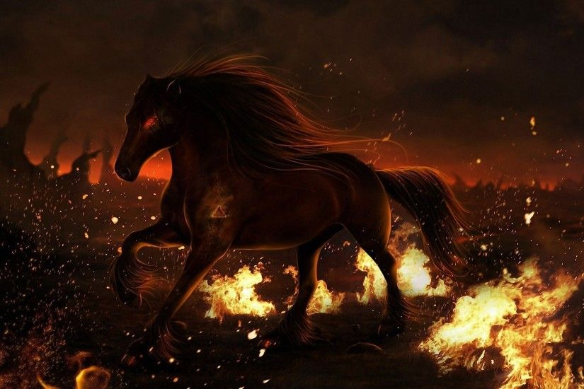 Fire Horse Wallpaper