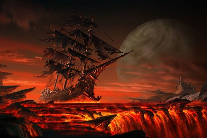 Ghost Pirate Ship Wallpapers ...