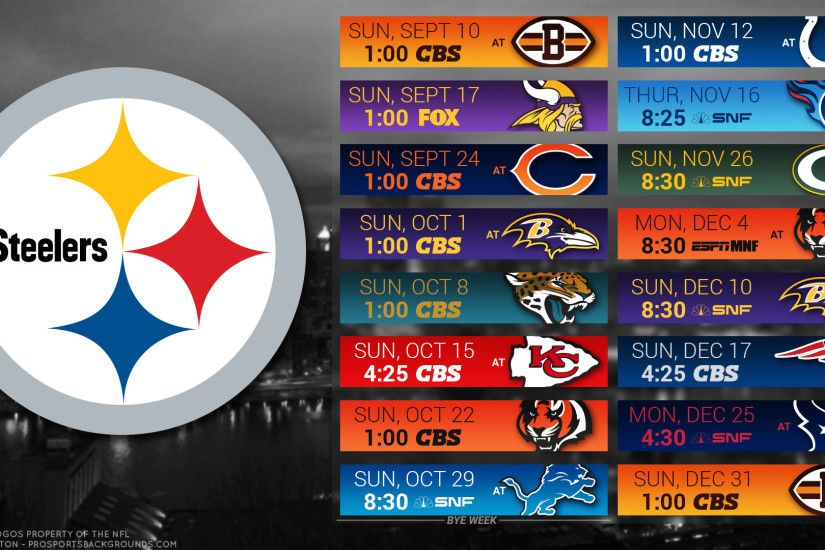 Pittsburgh Steelers 2017 schedule city football logo wallpaper free pc  desktop computer ...