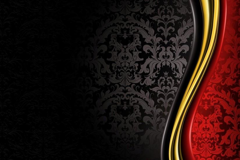 Black Red Gold Background