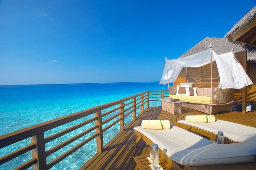 Inside Of Water Bungalow Bora Bora Wallpapers