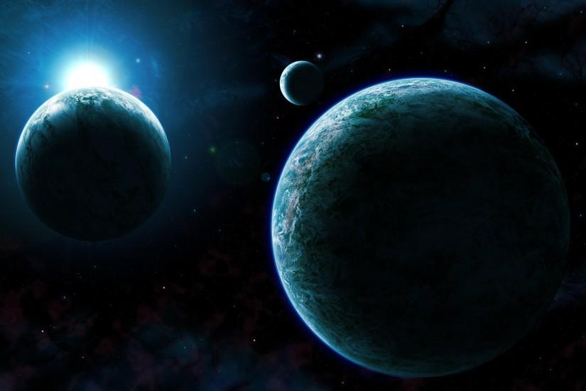 widescreen planets wallpaper 3000x1900 download free