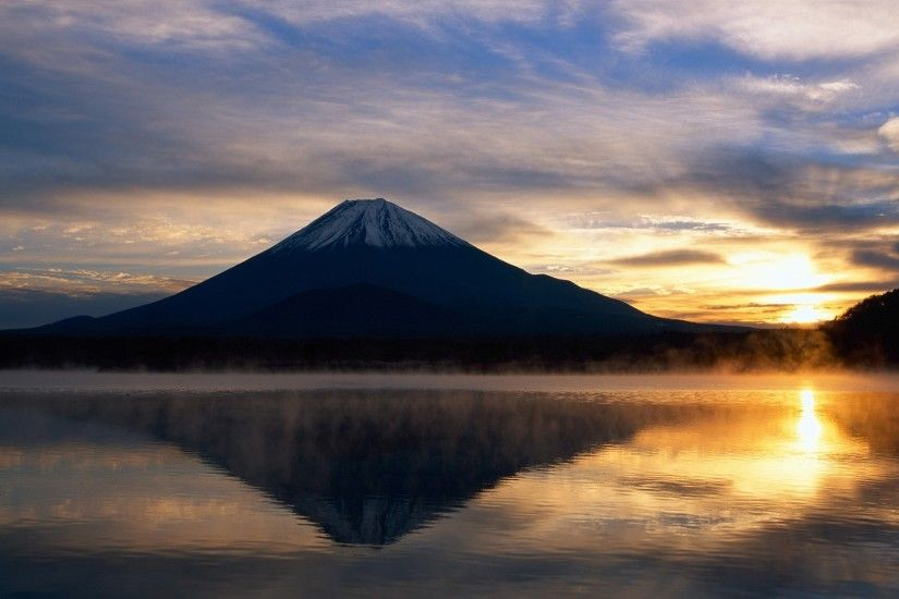 Mount Fuji Honshu Island Wallpaper