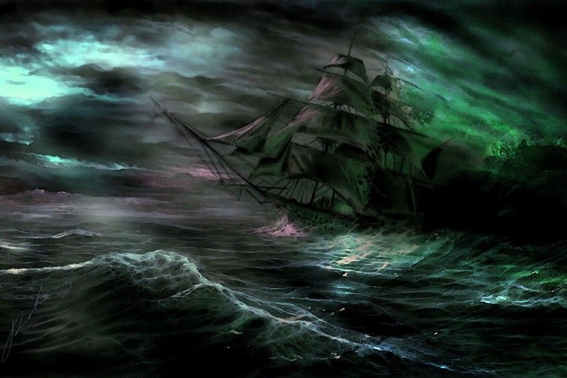 Ghost Pirate Ship Wallpaper For Android