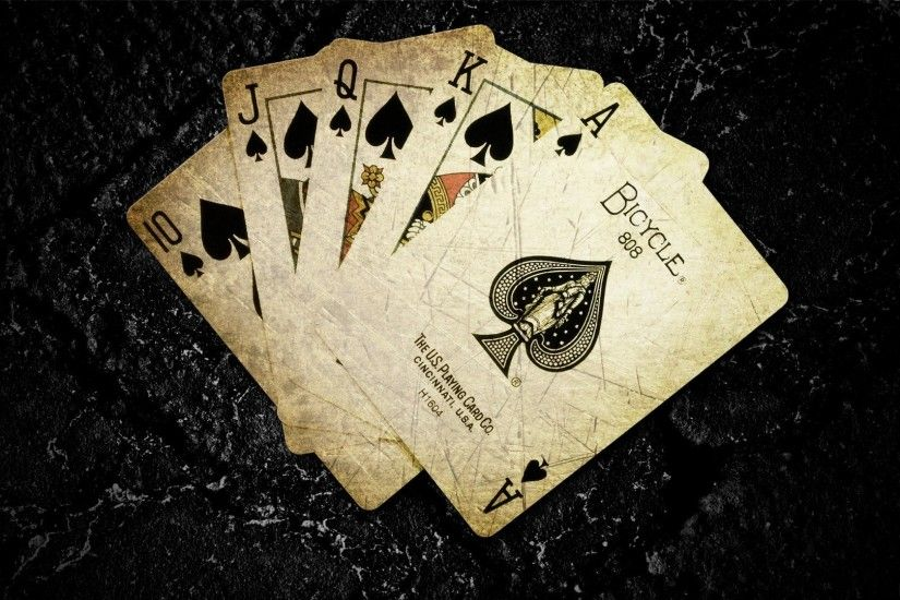 Ace Of Spades Card Game Cards Dark Background Digital Art Playing Poker