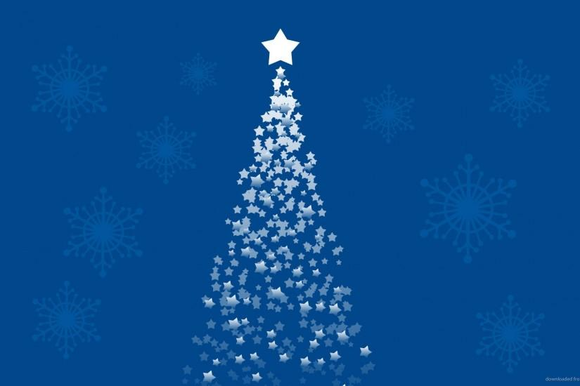 Ascending Star Forming A Christmas Tree On A Blue Background Picture .
