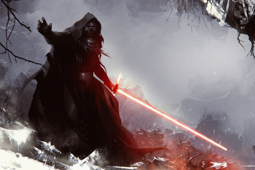 Movie - Star Wars Episode VII: The Force Awakens Kylo Ren Lightsaber Star  Wars Wallpaper