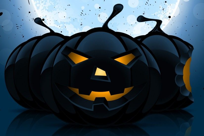 Preview wallpaper halloween, pumpkin, pattern, dark 1920x1080