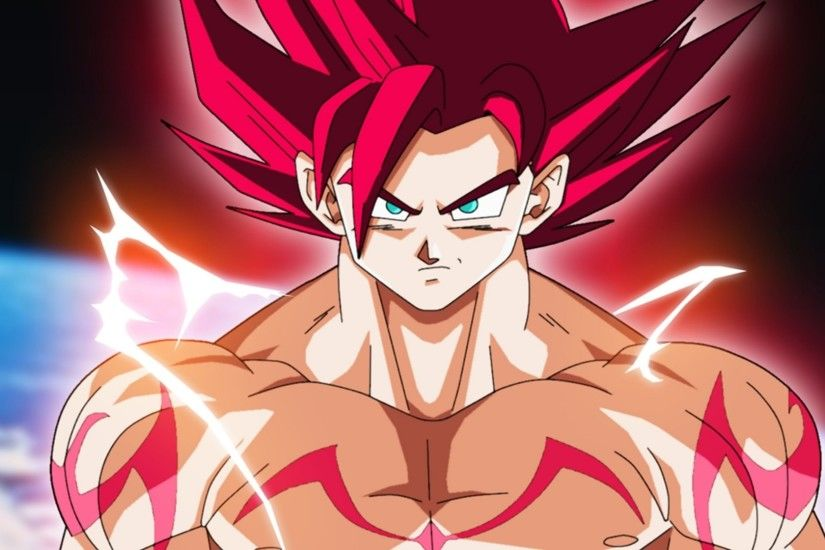 Anime Dragon Ball Super Super Saiyan God Goku Wallpaper