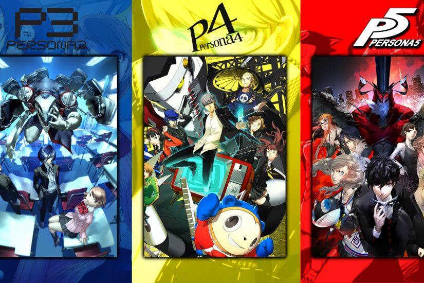 I made a Persona wallpaper for you guys. 1980x1080 only, unfortunately  *betcha Persona 6 is going to be green =P ...