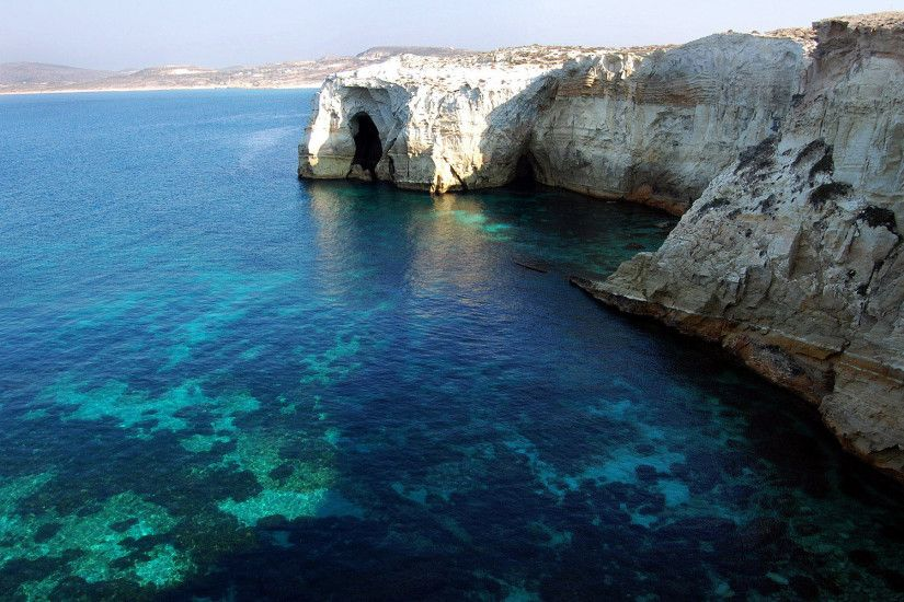 Widescreen hd mac wallpaper apple background wallpapers milos island